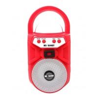 Φορητό Ηχείο ασύρματο  Bluetooth - ραδιόφωνο - MS-1644 Κόκκινο