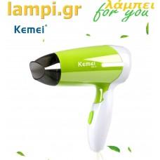 Σεσουάρ μαλλιών με αναδιπλούμενη λαβή Kemei KM-6830