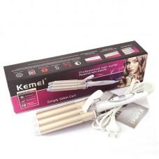 Τριπλό ψαλίδι για μπούκλες και κυματιστά μαλλιά Kemei KM-1010