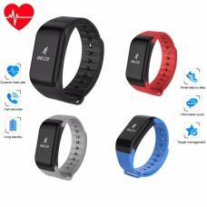 Βιομετρικό Αδιάβροχο Ρολόι Smart Watch Άθλησης με Παλμογράφο, Πιεσόμετρο, Οξύμετρο, Μέτρηση Βημάτων & Ύπνου Μπλέ