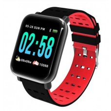 Βιομετρικό Αδιάβροχο Ρολόι Smart Watch,Μέτρ. Βημάτων & Ύπνου-Activity Health & Fitness Tracker - Κόκκινο