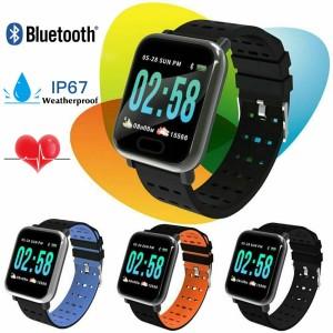 SMARTWATCH SMART BRACELET 180MAH OLED Βιομετρικό Αδιάβροχο Ρολόι Άθλησης με Οξύμετρο, Παλμογράφο, Πιεσόμετρο, Μέτρ. Βημάτων & Ύπνου BLACK