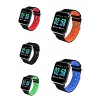 Βιομετρικό Αδιάβροχο Ρολόι Smart Watch,Μέτρ. Βημάτων & Ύπνου-Activity Health & Fitness Tracker - Μαύρο-Γκρί