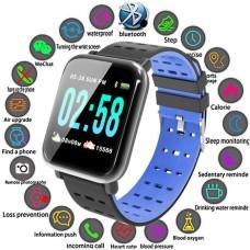 Βιομετρικό Αδιάβροχο Ρολόι Smart Watch,Μέτρ. Βημάτων & Ύπνου-Activity Health & Fitness Tracker - Μπλέ