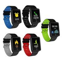 Βιομετρικό Αδιάβροχο Ρολόι Smart Bracelet Άθλησης με Παλμογράφο, Πιεσόμετρο, Οξύμετρο, Μέτρηση Βημάτων & Ύπνου - 'Εγχρωμη οθόνη- μπλέ