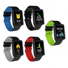 Βιομετρικό Αδιάβροχο Ρολόι Smart Bracelet Άθλησης με Παλμογράφο, Πιεσόμετρο, Οξύμετρο, Μέτρηση Βημάτων & Ύπνου - 'Εγχρωμη οθόνη- κόκκινο