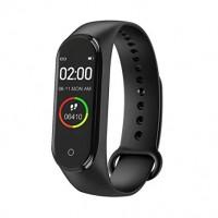 SmartBracelet Pedometer Blood Pressure Heart Rate Monitor M4 Βιομετρικό Αδιάβροχο Ρολόι Άθλησης με Οξύμετρο,Παλμογράφο, Πιεσόμετρο,Μέτρηση Βημάτων & Ύπνου BLACK