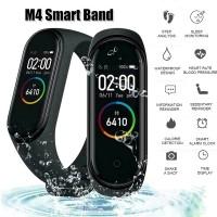 Βιομετρικό Αδιάβροχο Ρολόι Smart Bracelet M4 Άθλησης με Παλμογράφο, Πιεσόμετρο, Οξύμετρο, Μέτρηση Βημάτων & Ύπνου - 'Εγχρωμη οθόνη- Μαύρο M4