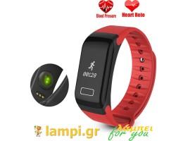 Βιομετρικό βραχιόλι Θερμίδων,καρδιακού παλμού Smart Bracelet