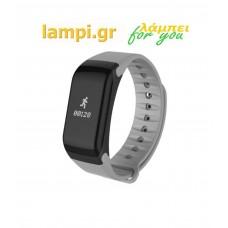 Βιομετρικό Αδιάβροχο Ρολόι Smart Watch Άθλησης με Παλμογράφο, Πιεσόμετρο, Οξύμετρο, Μέτρηση Βημάτων & Ύπνου - Activity Health & Fitness Tracker - Ασημί
