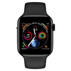 Βιομετρικό Αδιάβροχο Ρολόι Smart Bracelet Άθλησης με Παλμογράφο, Πιεσόμετρο, Οξύμετρο, Μέτρηση Βημάτων & Ύπνου,Θερμόμετρο - 'Έγχρωμη οθόνη-Μαύρο