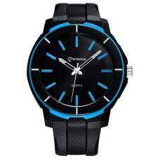 Ρολόι xειρός ανδρικό Mingrui MR-8835 Μαύρο & Μπλέ λεπτομέριες
