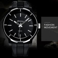 Ρολόι xειρός ανδρικό Mingrui MR-8835 Μαύρο & Λευκές λεπτομέριες