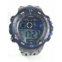 Ρολόι χειρός SPORTS LASIKA W-H9012 Μαύρο με Μπλέ λεπτομέριες