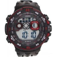 Ρολόι χειρός SPORTS LASIKA W-H9012 Μαύρο με κόκκινες λεπτομέριες