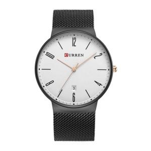Ρολόι xειρός ανδρικό Curren Μ8257 Μαύρο-Λευκό