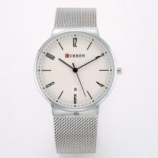 Ρολόι xειρός ανδρικό Curren Μ8257 Ασημί