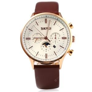 Ρολόι χειρός ανδρικό SKMEI 9117 GOLD-WHITE