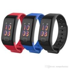 Βιομετρικό Αδιάβροχο Ρολόι Smart Watch Άθλησης με Παλμογράφο, Πιεσόμετρο, Οξύμετρο, Μέτρηση Βημάτων & Ύπνου - Activity Health & Fitness Tracker - Μαύρο