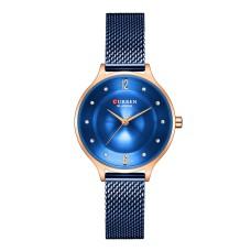 Γυναικείο Ρολόι χειρός Curren C9036L Μπλέ-χρυσό ροζ