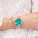 Γυναικείο Ρολόι Curren 9037 Rose Gold-Green