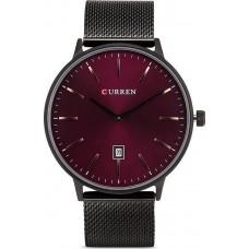Unisex Ρολόι χειρός Curren M8302 Μπορντό