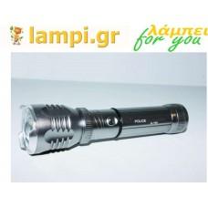 Φακός Αδιάβροχος LED CREE Bailong CLL-901 Επαναφορτιζόμενος Γκρί