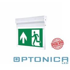 LED  Φωτιστικό Ασφαλείας - Πινακίδα Εξόδου Τοίχου-Οροφής 3W με 16 Led