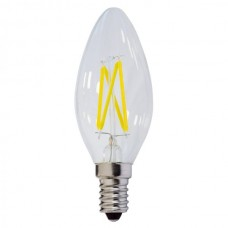 ΛΑΜΠΑ LED FILAMENT C35 4W E14 Θερμού Φωτισμού - OPTONICA