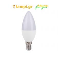 Λάμπα LED  E14 6W Θερμού Φωτισμού