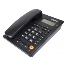 Σταθερό Ψηφιακό Τηλέφωνο Noozy Phinea N37 με Αναγνώριση Κλήσης και Ανοιχτή Ακρόαση Μαύρο