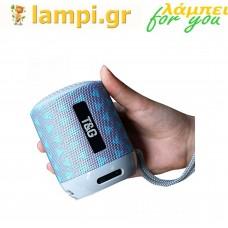 Φορητό Ηχείο TG-129  Bluetooth T&G Turquoise-Grey